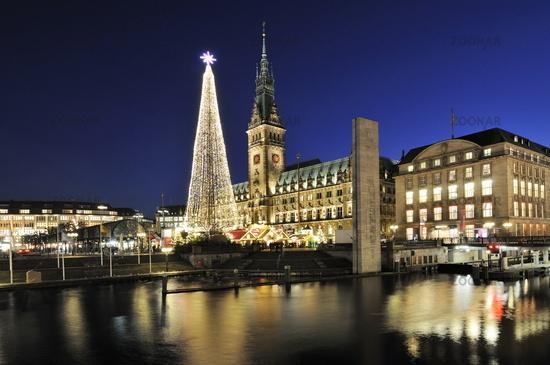 Hamburg, Germany, Christmas Fair at the Town Hall