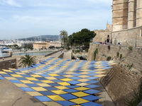 At the Parc de la Mar under the Cathedral - Palma de Majorca