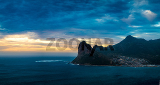 Hout bay sunset panorama