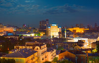 Kiev at night. Ukraine