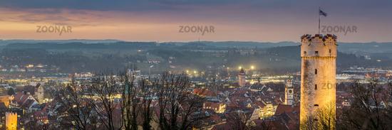 Sunset over Ravensburg | size 3:1