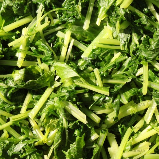 Blanched Turnip Leaves