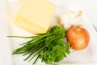 ingredients for herb butter