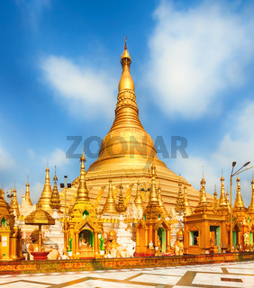 Shwedagon pagoda in Yangon. Myanmar.