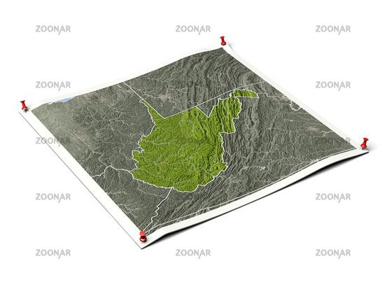 West Virginia on unfolded map sheet.