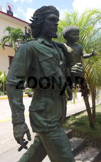 Che Guevara mit Kind, Santa Clara, Kuba