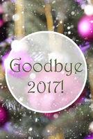 Vertical Rose Quartz Balls, Text Goodbye 2017
