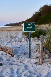 Hinweisschild: Küstenschutz