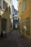 Colmar, Alley at Place Cathédrale