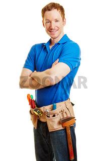 Mann mit Werkzeug als Heimwerker