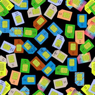 SIM Cards Seamless Pattern