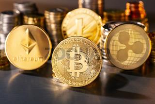 Münzen der größten Kryptowährungen