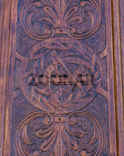 Freemasonry door entrance detail