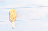 Ice cream on table