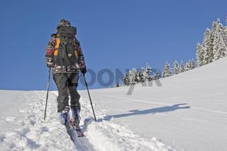Aufstieg mit den Skiern