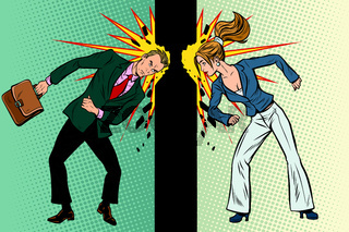 Competition of men and women in business