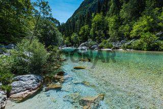 Soca river in Triglav National Park, Slovenia
