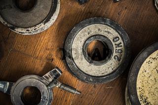 Vintage Gym Weights