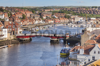 Whitby with the River Esk and the swing bridge