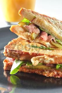 Clubhouse sandwich closeup