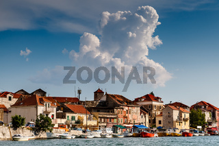 Medieval City of Omis on the River Cetina, Dalmatia, Croatia