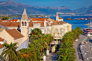 UNESCO town of Trogir waterfront view