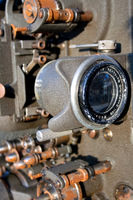 Lens of a old movie camera