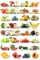 Früchte Frucht Obst Collage Apfel Banane Orangen Erdbeere Äpfel Melone biologisch