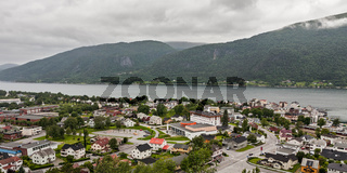 Panoramic view of Andalsnes city in Norway