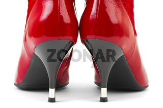 Red woman shoes
