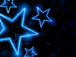 Glowing Neon Stars Background