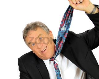 Hanging Businessman