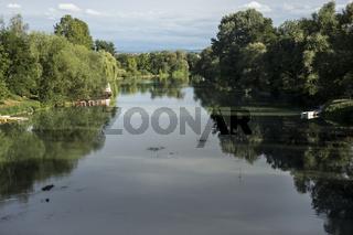 Fluss Sana bei Sanski Most, Bosnien
