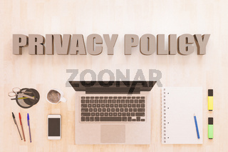 Privacy Policy text concept