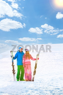 Smiling couple on a mountain