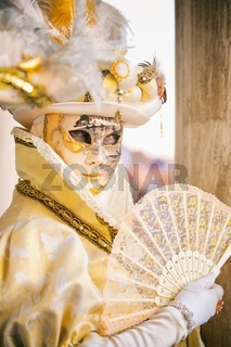 Venice, Italy - February 18, 2017:  Venetian Masks on Venice Carnival.