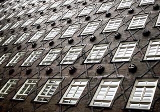 Fassade des Sprinkenhofs im Hamburger Kontorhausviertel