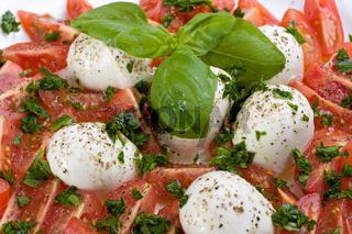 tomatoes, mozzarella and basil: insalada caprese