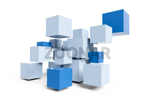 blue cubes construction