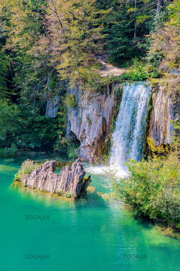 Waterfall on Plitvice lakes