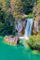 Waterfall on Plitvice lakes