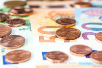 Euro currency, selective focus