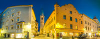 tyrol shopping streets at dusk