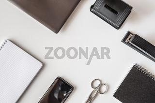 Desktop with office gadgets