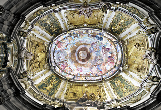 Deckenfresko der Abtei Weltenburg, Bayern, Deutschland