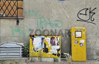 Verteiler- und Briefkasten in der Innenstadt von Dortmund