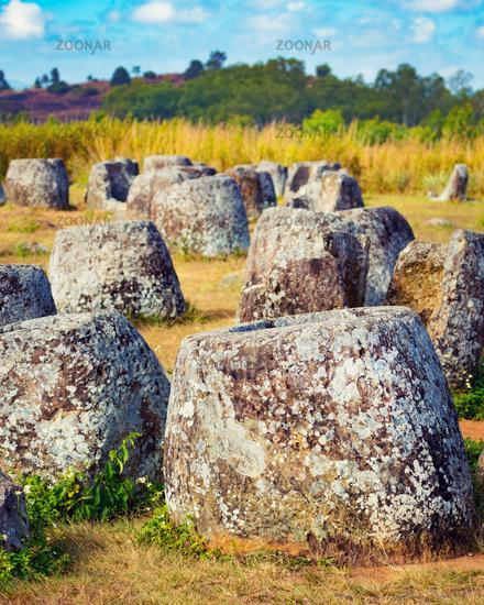 The Plain of jars. Laos