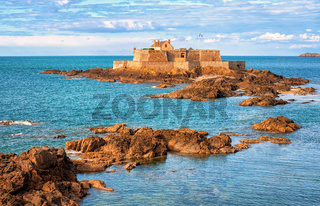 English Channel by Saint-Malo, Brittany, France