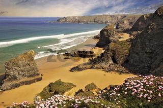 Bedruthen Steps Cornwall