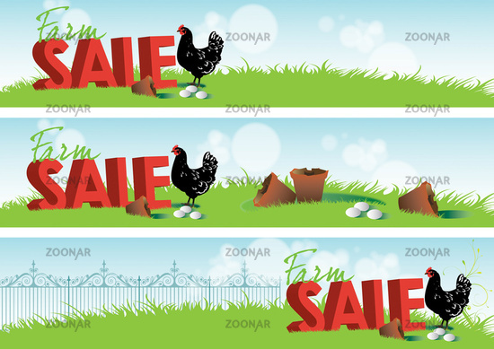 Farm Sale Banners